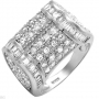 120 cubic Zirconia Sterling Silver Ring  Size 9