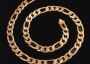 14K Gold Filled Solid Figaro Chain 24in