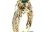 18K Gold Filled Green CZ Ring Wedding/Engagement Ring size 8