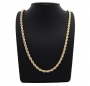 18K Gold filled 24in 6mm rope chain