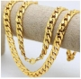 24k gold filled solid curb link 24in chain.