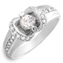 25 Cubic Zirconia Sterling Silver Ring Size 7