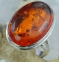 38 ct Baltic Amber 925 Sterling Silver Ring  Size 6.5