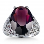 5ct Amethyst Ring Size 8