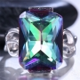 9.5ct 925 Silver Mystic Topaz Ring Size 9