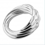 925 Sterling Sterling Silver 9 Circle Ring- Size 6