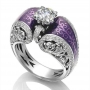 925 silver  white sapphire ring size 7