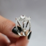 925 silver  white sapphire ring size 8