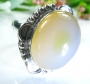 Agate Silver Ring Size 7.75