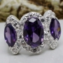 Amethyst 925 Sterling Silver Ring Size 6.5