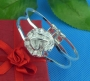 Big rose cuff bangle bracelet