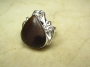 Brown Jasper Silver Ring Size 8.5