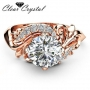 Clear  cz ring in 18K rose gold filled ring size 8