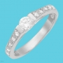 Engagement Cubic Zirconia Ring Size 9