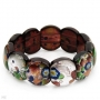 Extendible to 7 in Multicolour Glass Beads Bracelet.