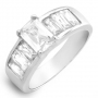 Gorgeous Cubic zirconia Ring in Sterling silver Size 7