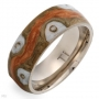 Men' Band Ring in Multicolour Enamel and Titanium  Size 11