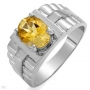 Men' Citrine Ring Size 9