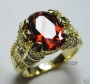 Men' Ruby 10K  Gold Plated Ring  Size 10