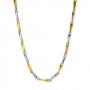 Men's /ladies' Two tone Stainless steel chain , 30 inches long