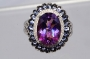 Natural Mystic Topaz & Tanzanite Ring S-8.25