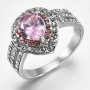 925 Silver  pink sapphire ring size 9