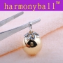 Sterling silver yellow angel sound harmony bell Mexican Bola Chi