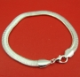 Sterling silver 6mm snake chain bracelet