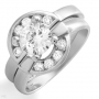 Terrific Design Ring w/ Cubic Zirconia  Size 7