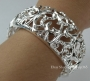 Thick Silver elasticity large bracelet